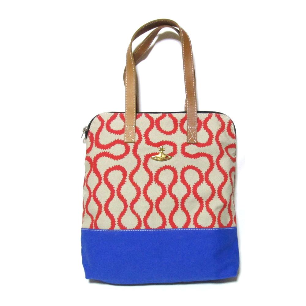 Anglomania Vivienne Westwood アングロマニア ヴィヴィアンウエストウッド 限定スクイーグルアフリカトートバッグ (赤 ORO オーブ 鞄) 104144 【中古】