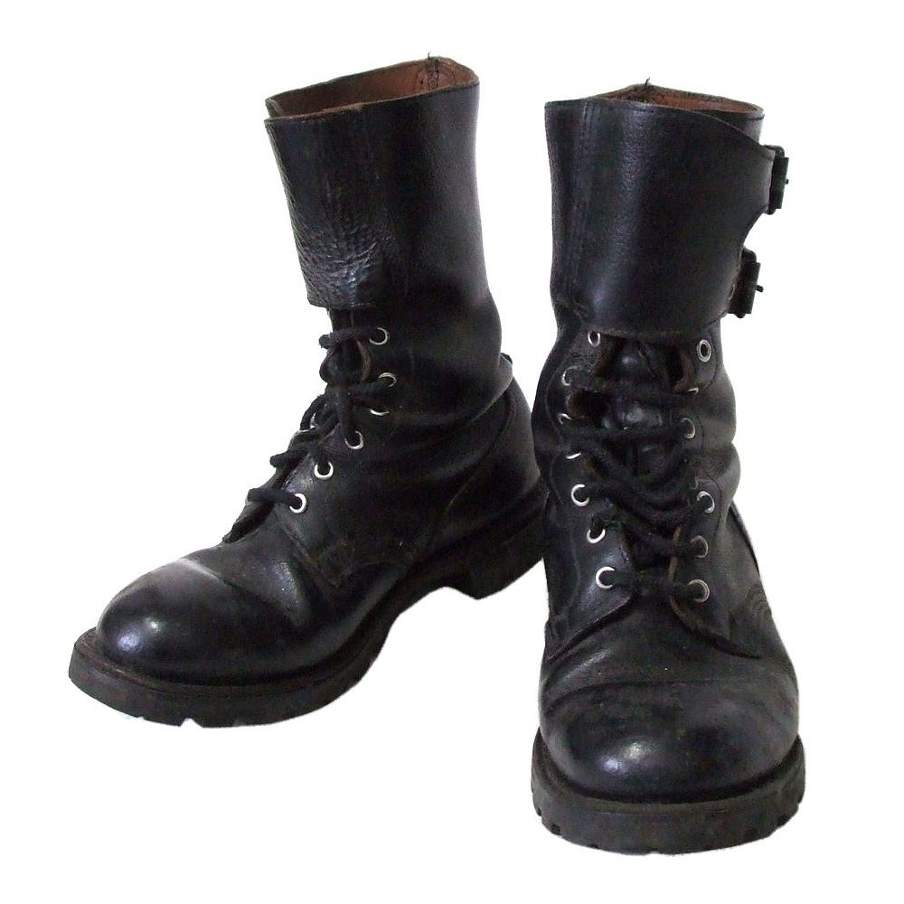 211c1f34fda MARBOT circle baud combat leather boots (black boots French military  leather skin military army shoes ...