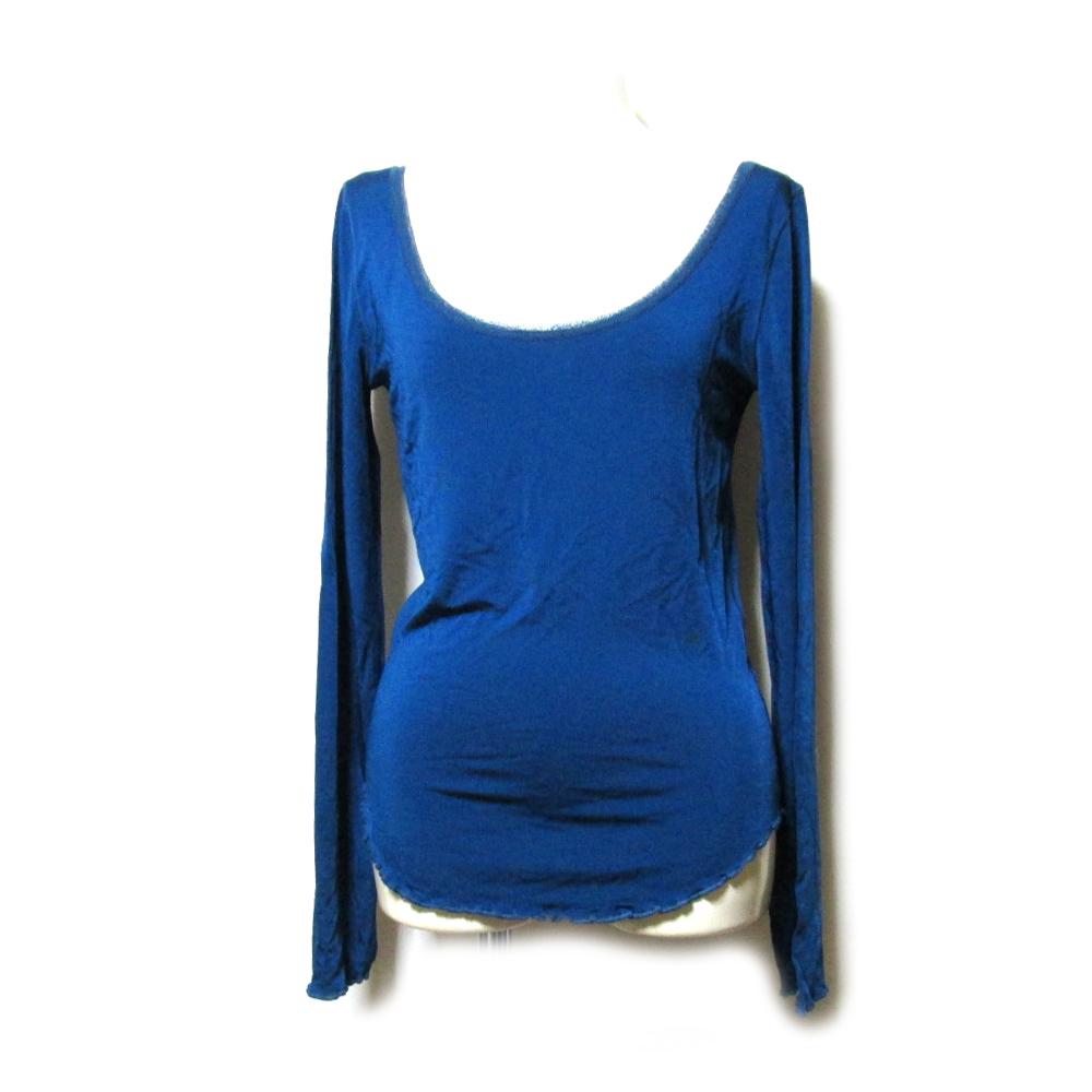 美品 Jean Paul GAULTIER ジャンポールゴルチエ 「M」 イタリア製 スーパーストレッチカットソー (紺 Tシャツ 長袖) 104295 【中古】