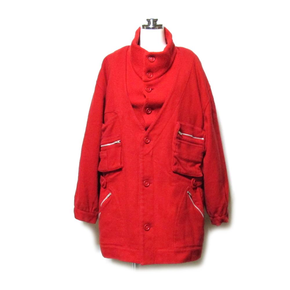 Vintage old BIGI ヴィンテージ オールド ビギ レイヤードデザインジャケット ライナー付 (赤 アヴァンギャルド) 104463 【中古】