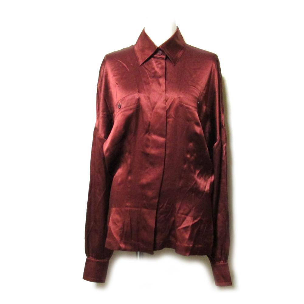 dbe27edf4c1827 Silk blouse (Bordeaux shirt silk) made in ESCADA エスカーダ