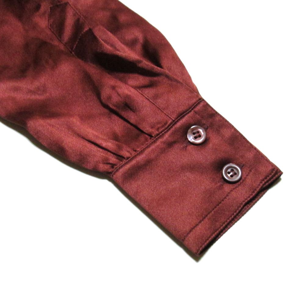 56c49e9714830e ... Silk blouse (Bordeaux shirt silk) made in ESCADA エスカーダ
