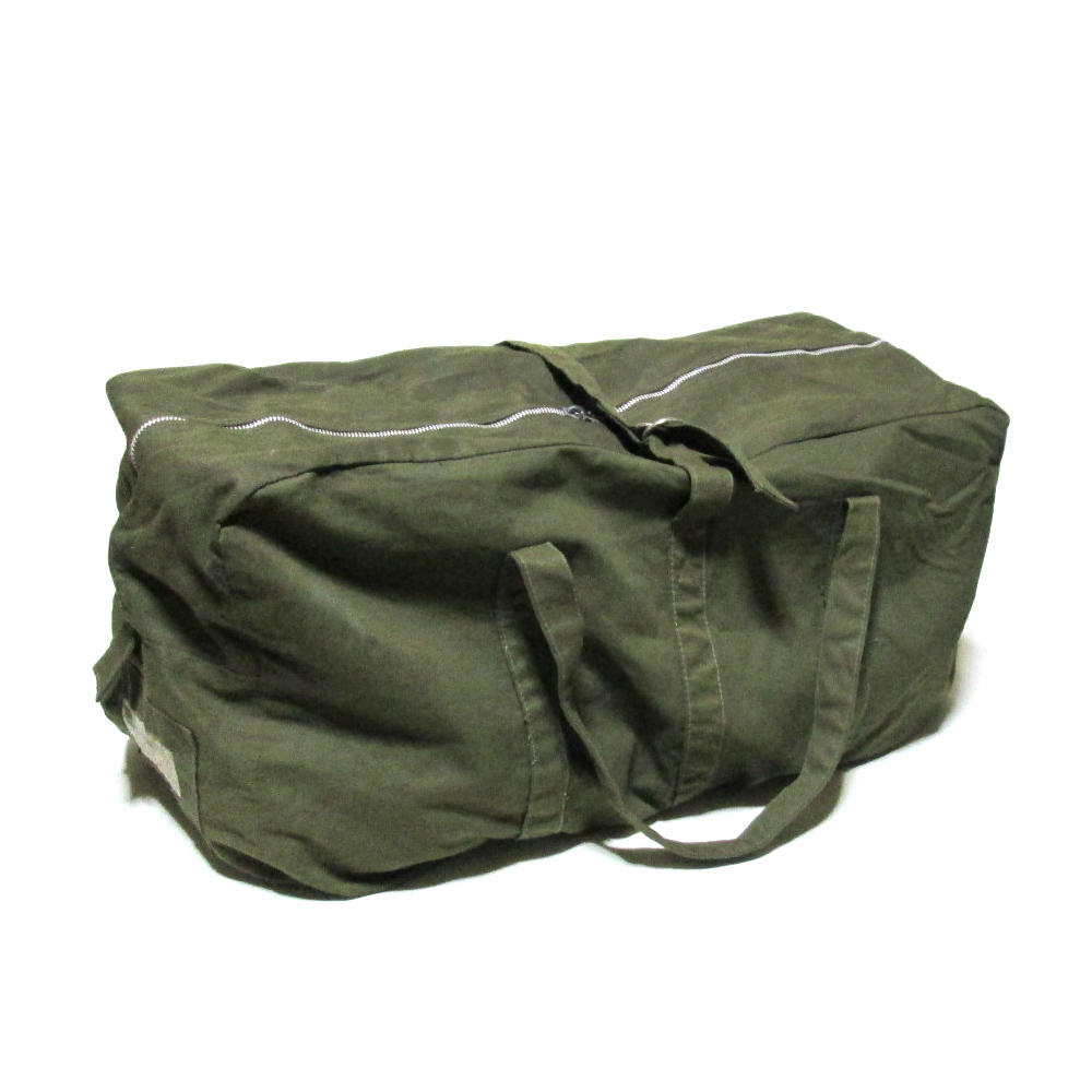 07499fde3374 70 s vintage Czechoslovak military vintage Czechoslovakia forces canvas Boston  bag (khaki army military-releasing article real thing bag) 105325