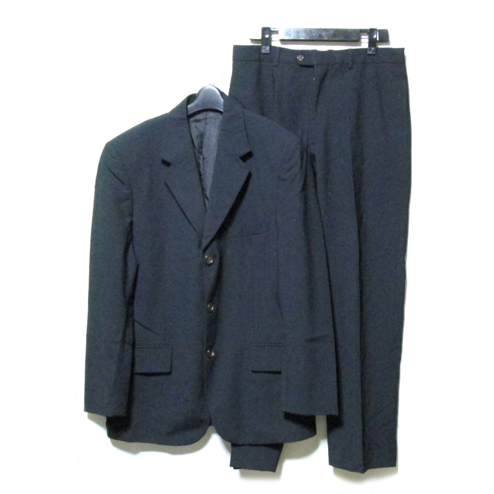 PIERO GAZZARRINI UOMO ピエトロ ガッザリーニ ウォモ 「48」 イタリア製 3Bセットアップスーツ (紺 ネイビー ギャバジン) 106024 【中古】
