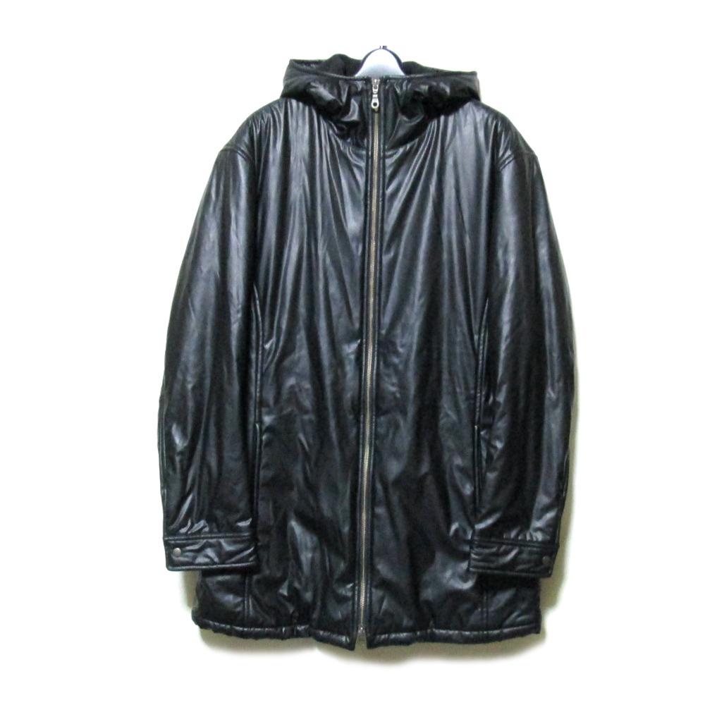 BIGLIDUE ビリドゥーエ 「46」 ダブルフルジップフーデットコート (黒 ジャケット パーカー フード付き) 108386 【中古】