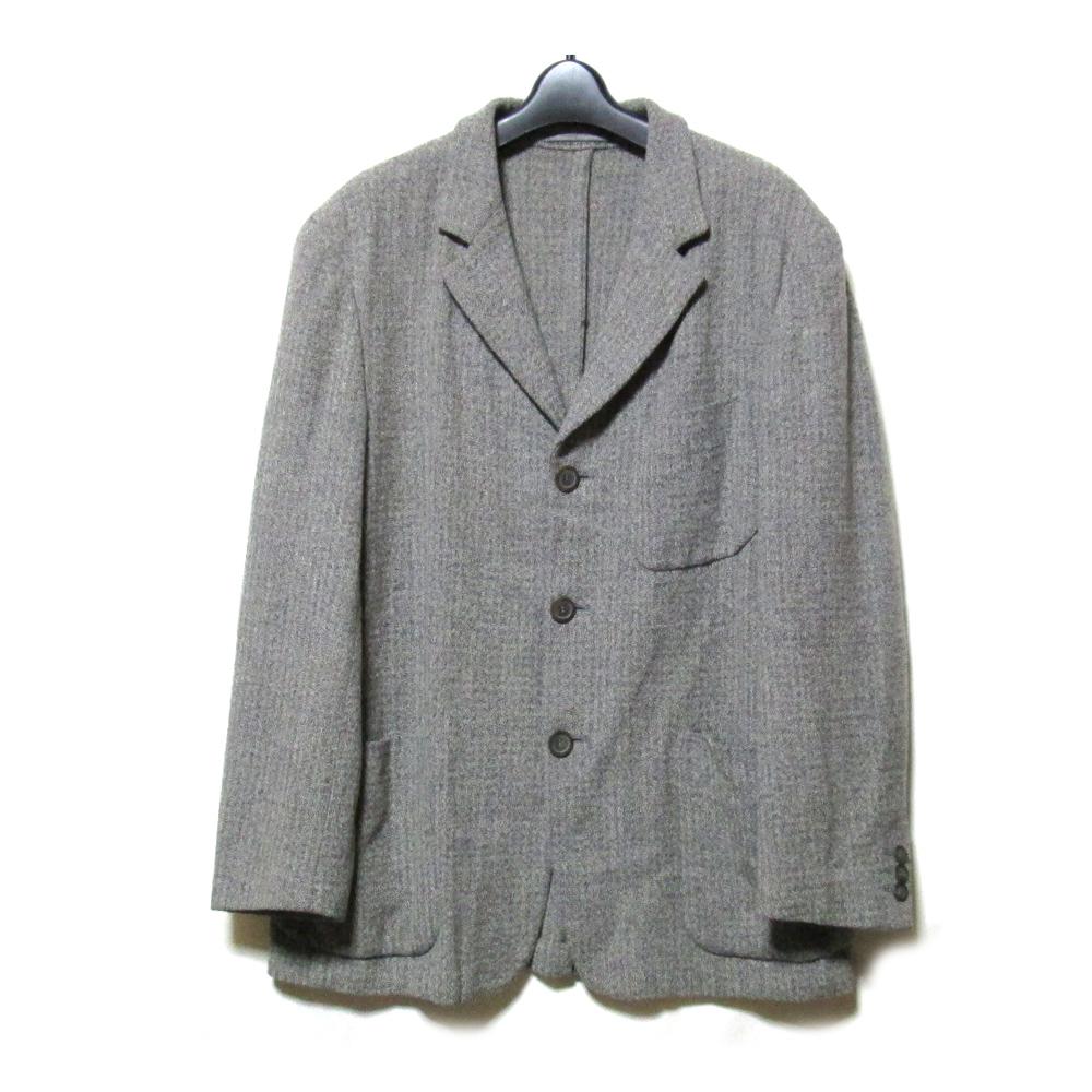 GianniVersace ジャンニヴェルサーチ 「50」 イタリア製 3Bウールジャケット (グレー アンコン) 110530 【中古】