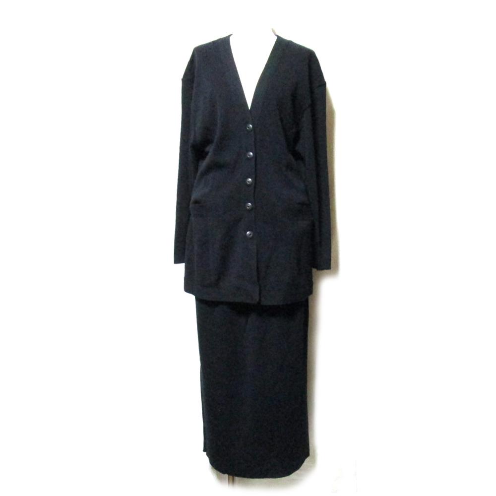 Vintage old ZELDA nicole ヴィンテージ オールド ゼルダ ニコル ロングセットアップスーツ (黒 アヴァンギャルド) 110762 【中古】