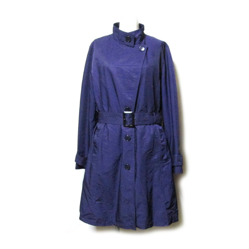 GEORGES RECH ジョルジュ レッシュ 「40」 ライナー付トレンチコート (紫 パープル ロング) 111021 【中古】