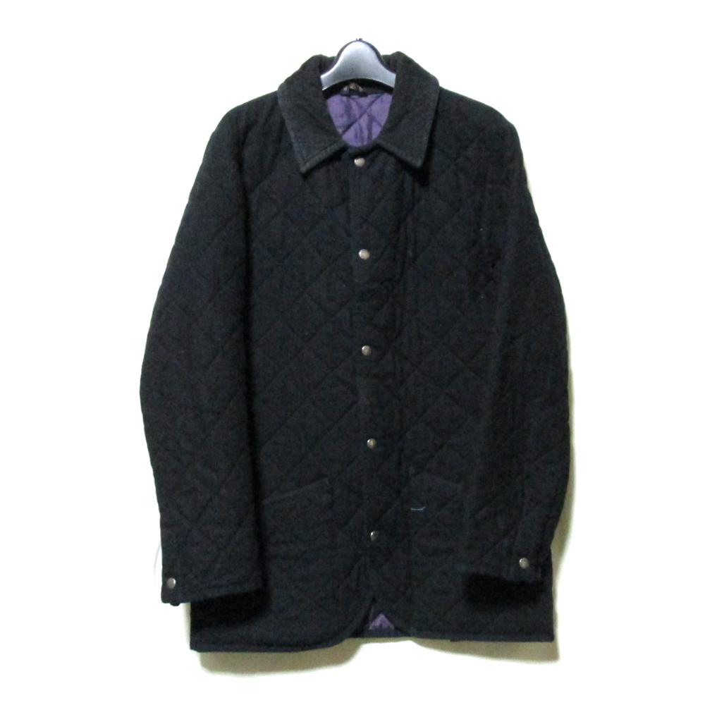 Mackintosh×SHIPS マッキントッシュ×シップス 「M」 スコットランド製 キルティングジャケット (コート 黒 限定 コラボレーション) 111526 【中古】