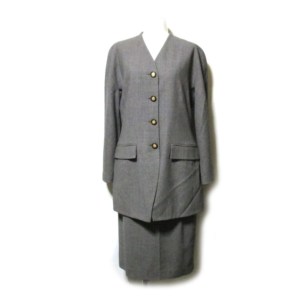 CASSANDRE カサンドレ イタリア製 マオカラーセットスーツ (スカート ジャケット ) 111847 【中古】