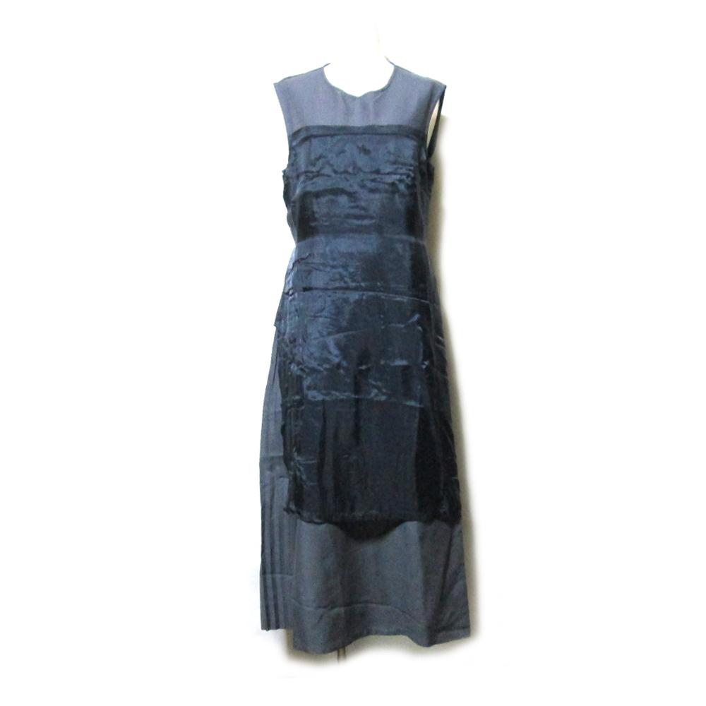 \3980以上購入で 送料無料 ALFASPIN 買取 アルファースピン レイヤード変形ワンピース 黒 中古 新登場 グレー ドレープ モード 112349 ドレス