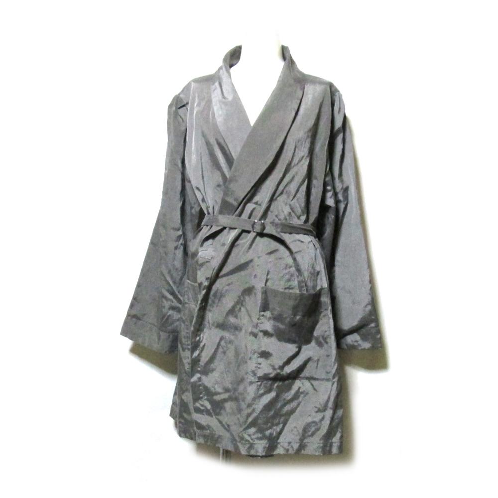美品 KISHIDA MIKI. キシダミキ ショールカラーコート (グレー ジャケット) 112467 【中古】