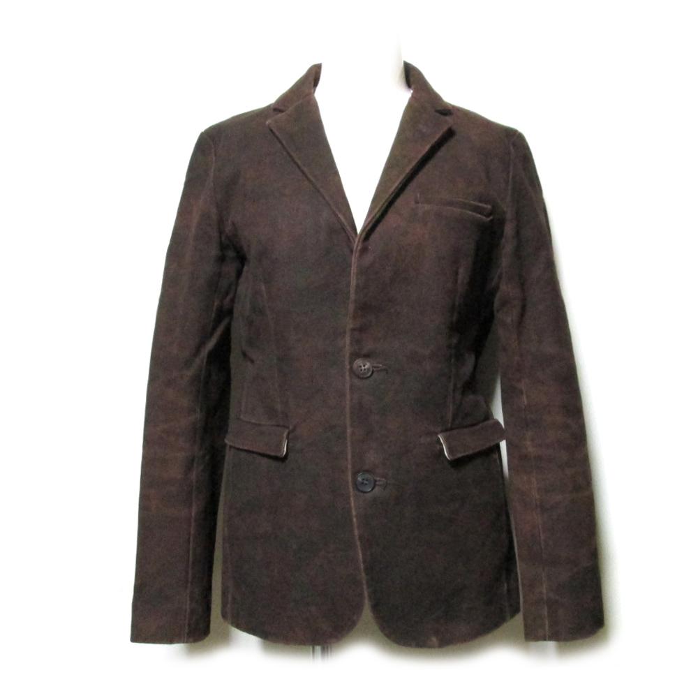RIPVANWINKLE リップヴァンウィンクル 「M」 斑染キャンバスジャケット (ブラウン デニム ) 112726 【中古】