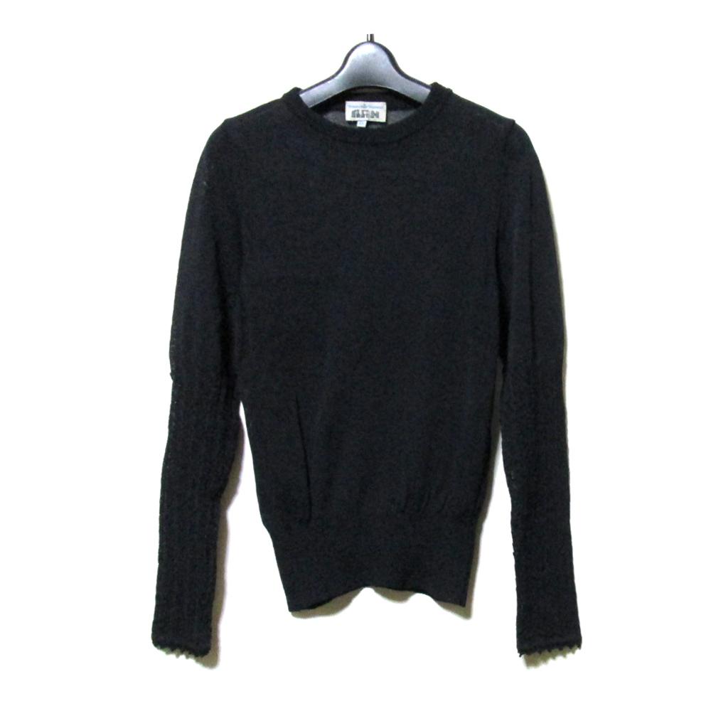 Vivienne Westwood MAN ヴィヴィアンウエストウッド マン 「XS」 イタリア製 レースニットセーター (黒 春夏 ) 113824 【中古】
