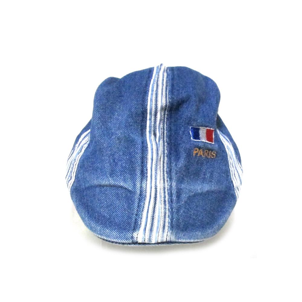 Vintage old France vintage Old French cycling cap (denim beret hat France  vintage bicycle) 114238 61620eadbde2