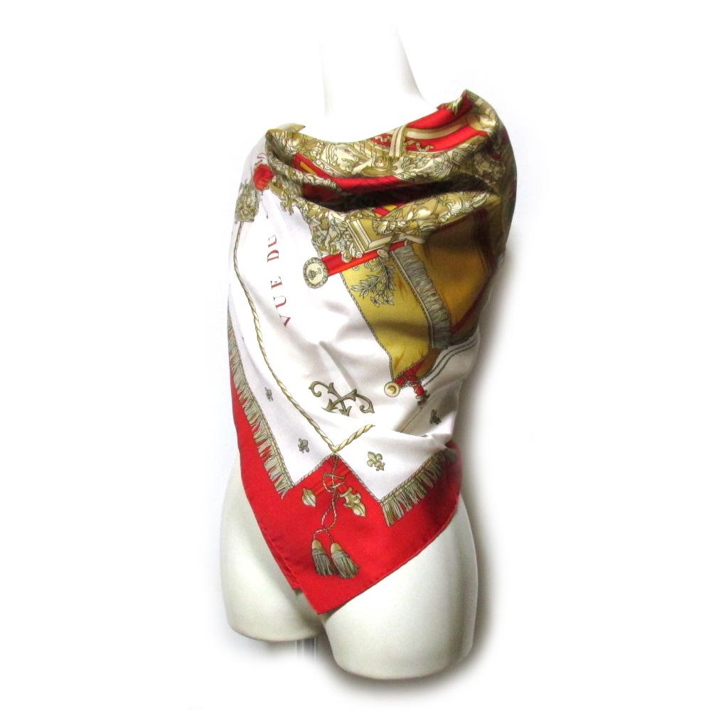 HERMES エルメス クラシックシルクスカーフ (絹 希少 普遍的定番) 114264 【中古】