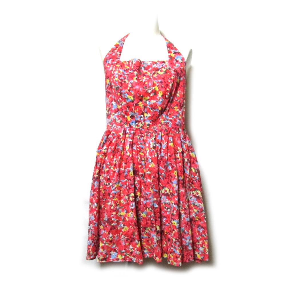 販売期間 限定のお得なタイムセール \3980以上購入で 送料無料 美品 A 激安セール X ARMANI EXCHANGE アルマーニ 中古 4 ピンク 花柄 114736 ドレス フラワードレープワンピース エクスチェンジ