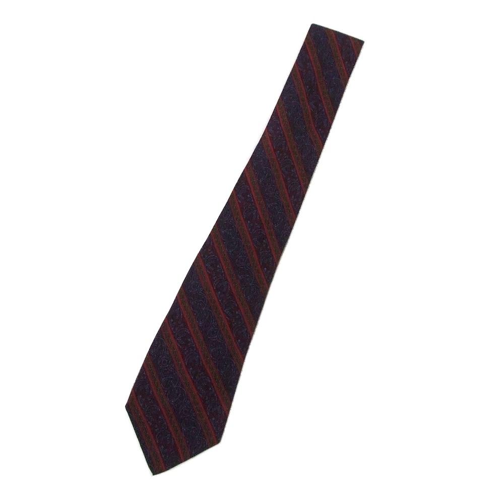 \3980以上購入で 送料無料 ROCHAS 実物 ロシャス フランス製 絹 レジメンタルシルクネクタイ 中古 日時指定 114970