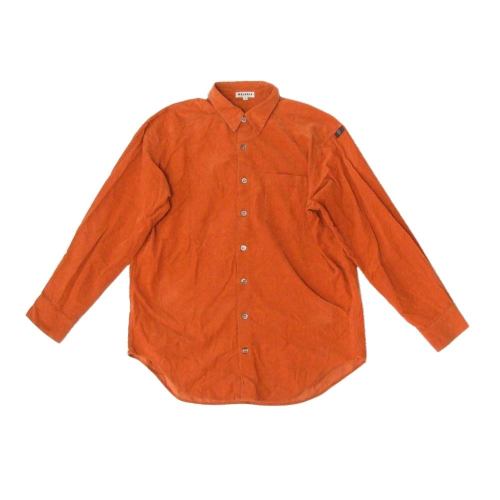 アウトレットセール 特集 \3980以上購入で 送料無料 MELROSE メルローズ コーデュロイブラウス 中古 115110 感謝価格 オレンジ