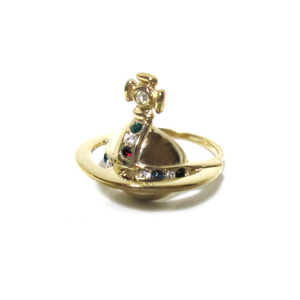 【新古品】 Vivienne Westwood ヴィヴィアンウエストウッド 「XL」 ソリッドオーブリング イエローゴールド (ORB 金 指輪 アクセサリー) 115314 【中古】