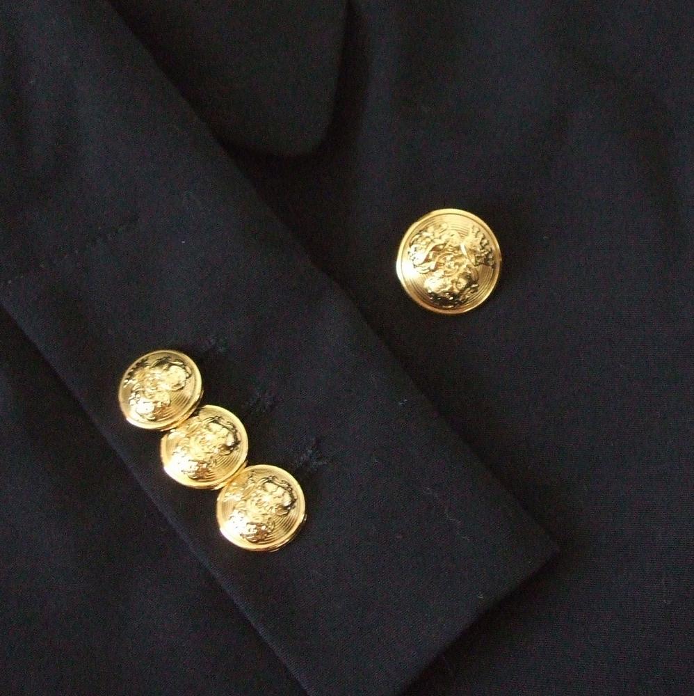 innovative design d496d 935c0 ... ZARA Zara double breath blazer. Jacket (dark blue navy gold button  gabardine digin) ...