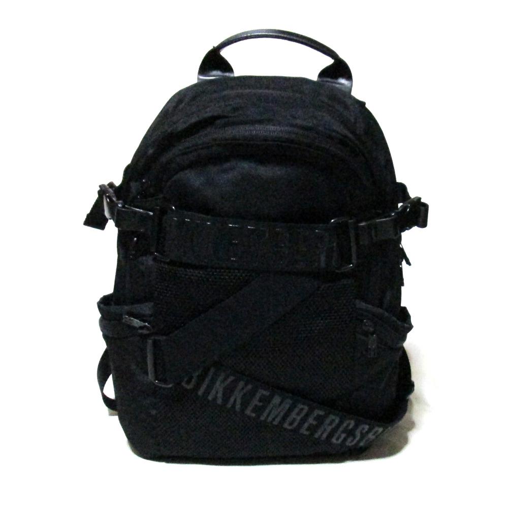 【新古品】 DIRK BIKKEMBERGS ダーク ビッケンバーグ マウンテンバックパック (黒 リュックサック 鞄 ブラック) 115775 【中古】
