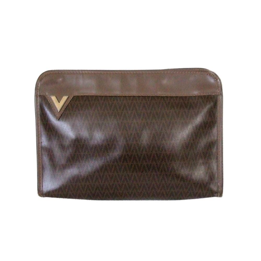 56edfd8f4eab95 Vintage MARIO VALENTINO vintage old Mario Valentino monogram clutch bag  (second Valentino Valentino Valentino) ...