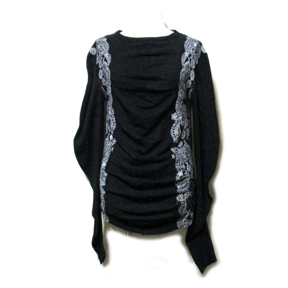 美品 JUNYA WATANABE COMME des GARCONS ジュンヤワタナベ コムデギャルソン 「S」 2006 変形ドレープニットセーター (黒 ) 115903 【中古】
