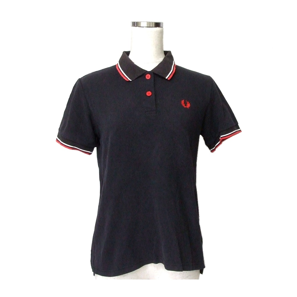 37e0e32a FRED PERRY Fred Perry constant seller line polo shirt (dark blue fawn Oxford  short sleeves ...
