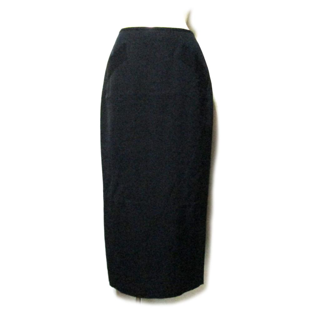 Jean Paul GAULTIER FEMME ジャンポールゴルチエ ファム 「40」 ロングギャバジンスカート (80's Vintage ヴィンテージ ゴルチェ 黒 ビンテージ) 116345 【中古】