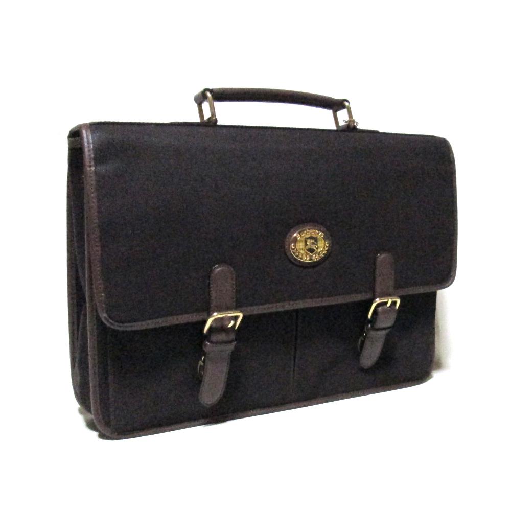美品 Vintage BURBERRYS ヴィンテージ オールド バーバリー クラシックブリーフケースバッグ (ブラウン 鞄 ビジネス ビンテージ BURBERR) 116729 【中古】