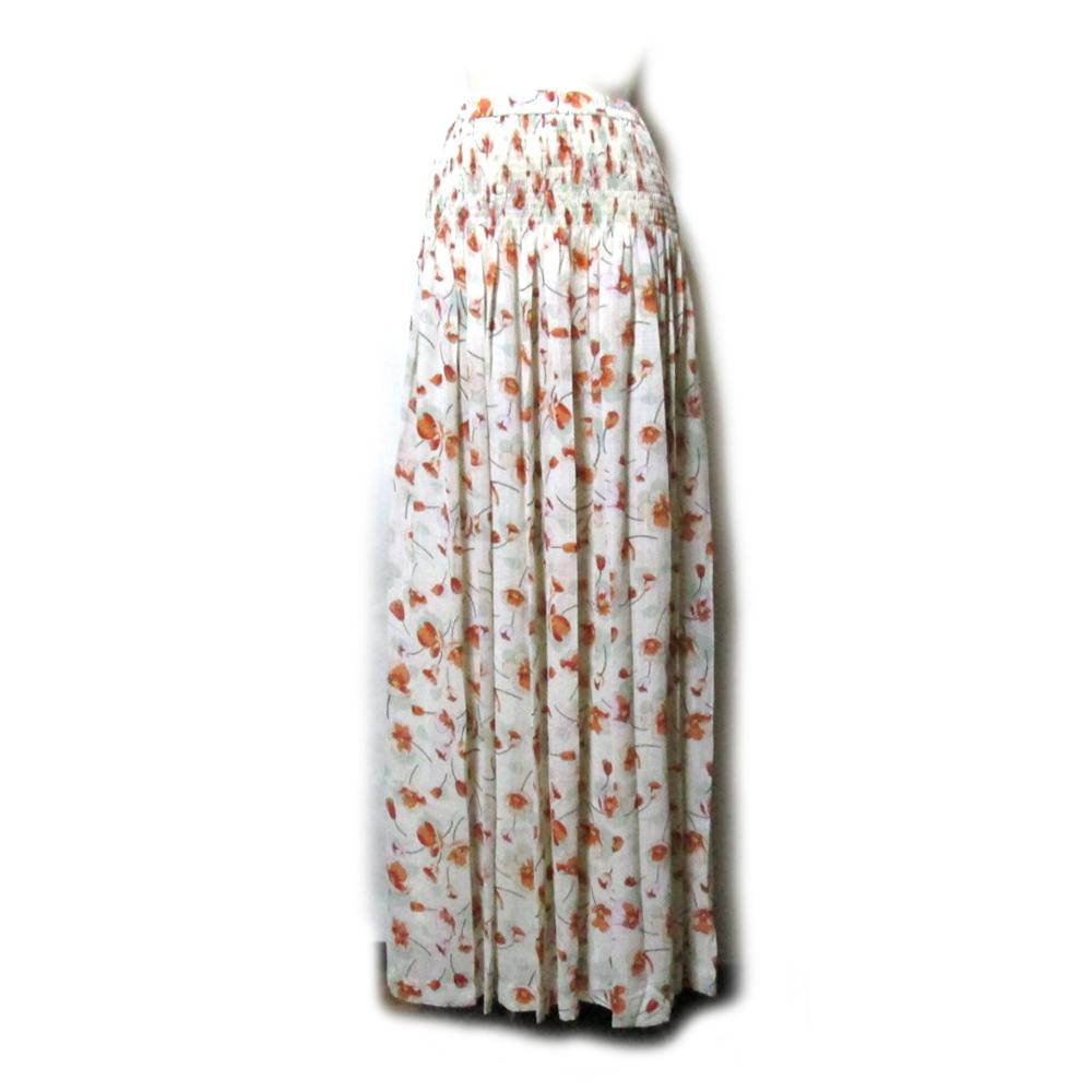 美品 YUKIKO HANAI ハナイユキコ アナモネマキシ丈スカート (花柄 ボタニカル フラワー ロング) 117730 【中古】
