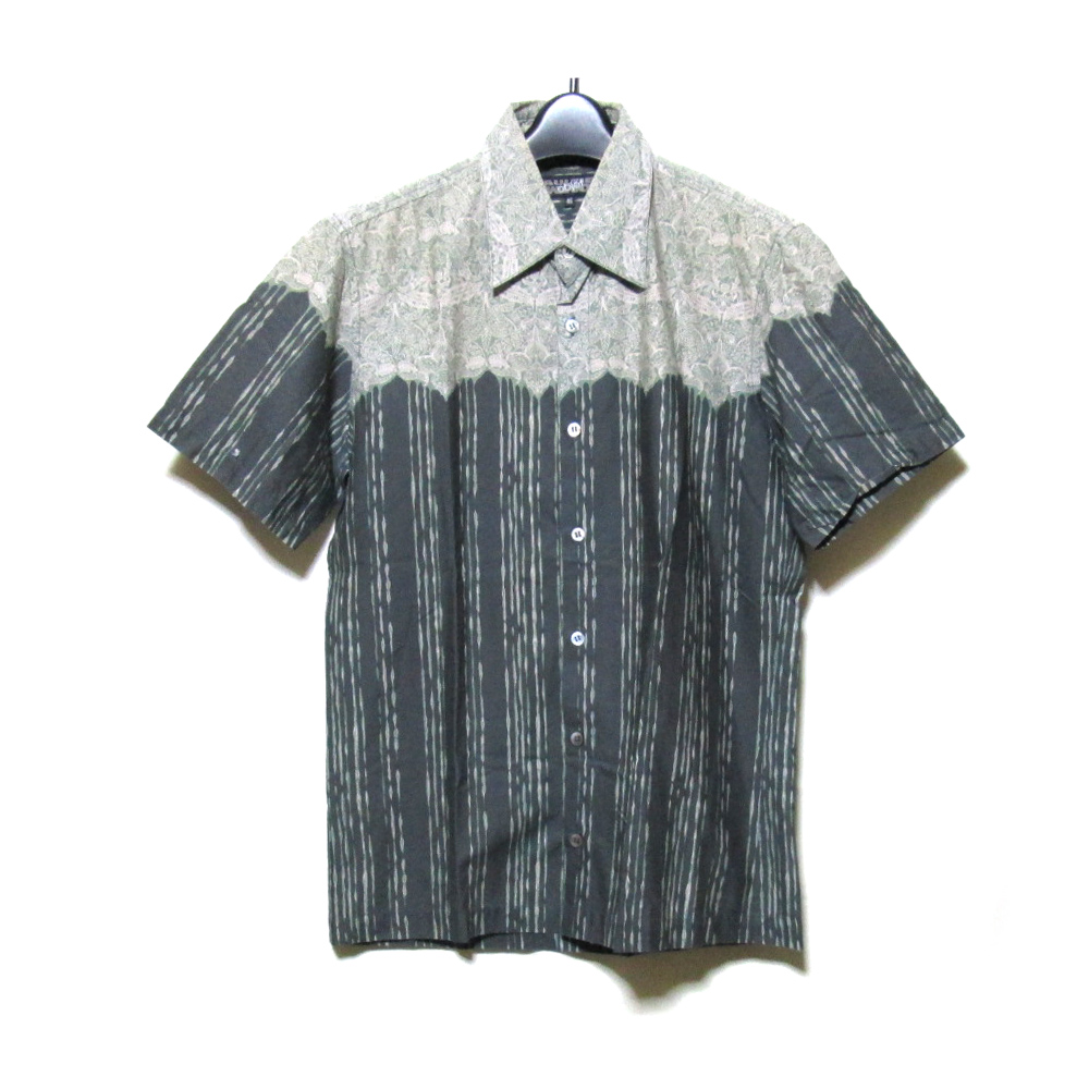 Jean Paul GAULTIER HOMME ジャンポールゴルチエ オム 「46」 ジャポネスクデザインシャツ (半袖 黒 アロハシャツ ゴルチェ) 118118 【中古】