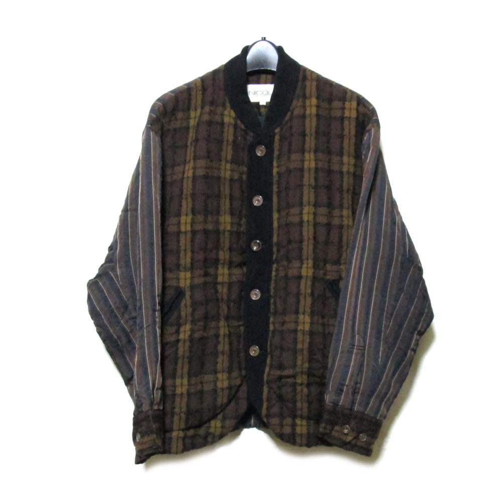 Vintage MONSIEUR NICOLE ヴィンテージ ムッシュニコル 「M」 タータンチェック切り替えジャケット (ブルゾン) 118716 【中古】