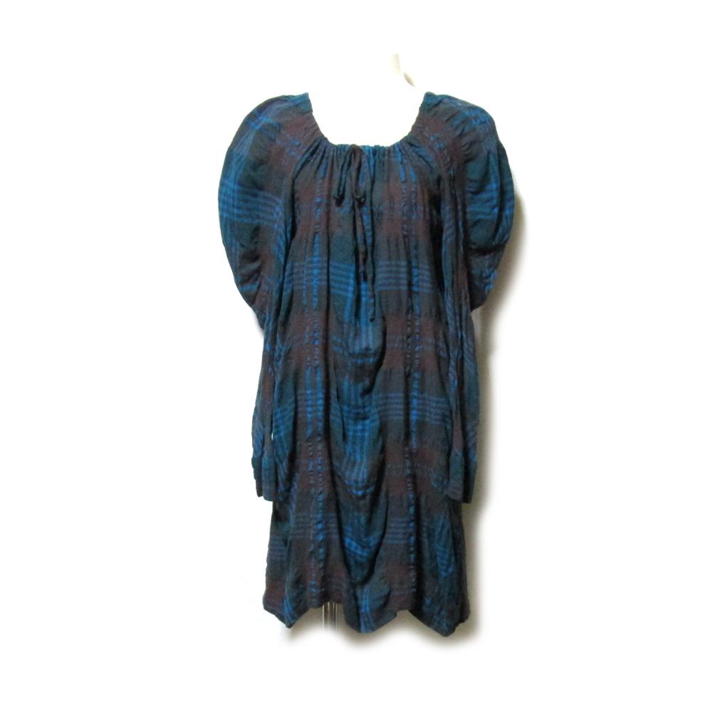 美品 Vivienne Westwood RED LEBEL ヴィヴィアンウエストウッド 「2」 タータンチェックバルーンワンピース (ドレス ORB オーブ) 118792 【中古】