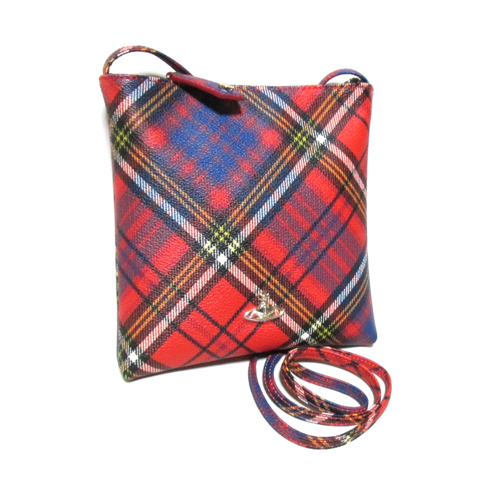 c330d8949b Derby tartan check square shoulder bag (red red bag import) made in Vivienne  Westwood ...