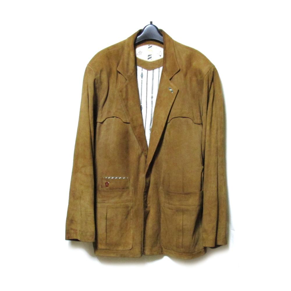 Vintage CAMEL ヴィンテージ キャメル 「50」 ヌバックレザージャケット (べージュ 皮 革 ブルゾン ブレザー) 118908 【中古】