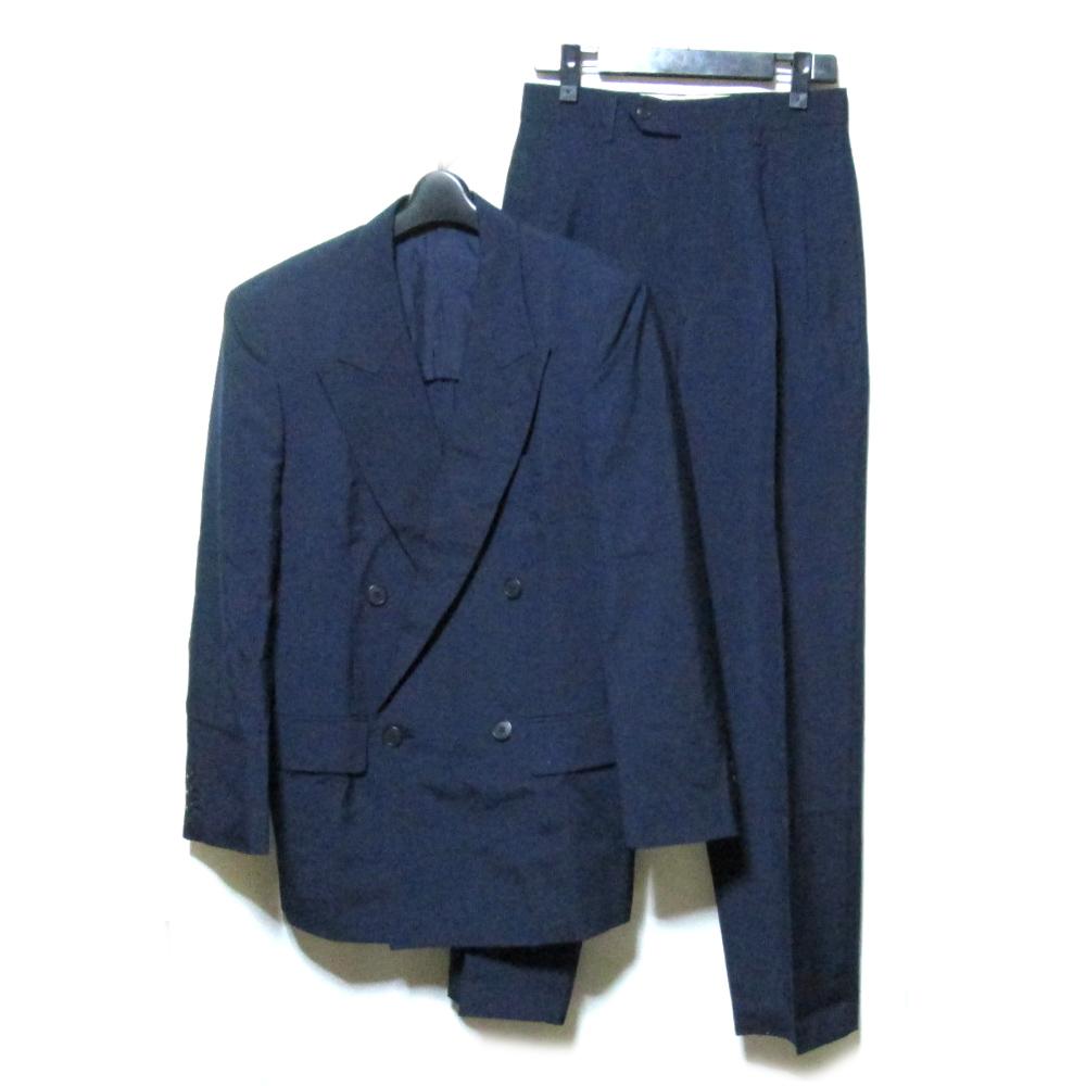 Vintage TOKIO KUMAGAI HOMME ヴィンテージ トキオクマガイ オム 「M」 ダブルブレスセットアップスーツ (紺 ネイビー ギャバジン ) 119148 【中古】
