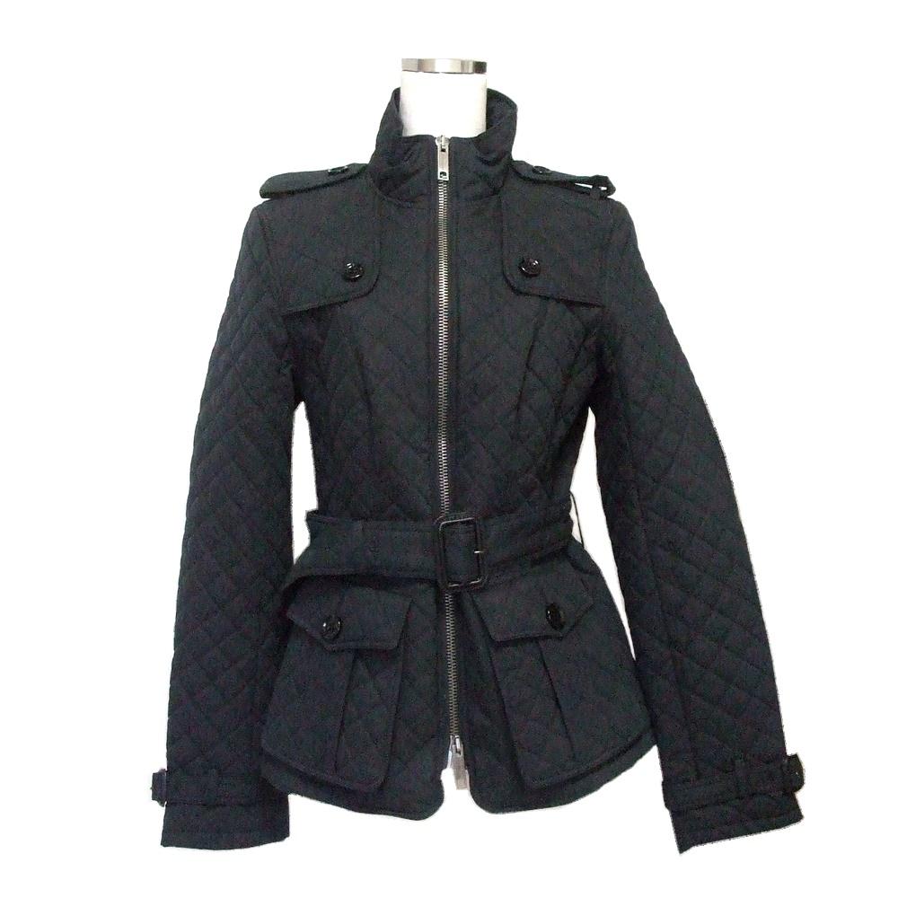 BURBERRY LONDON バーバリー ロンドン キルティングトレンチコート (黒 ジャケット ブラック) 119400 【中古】
