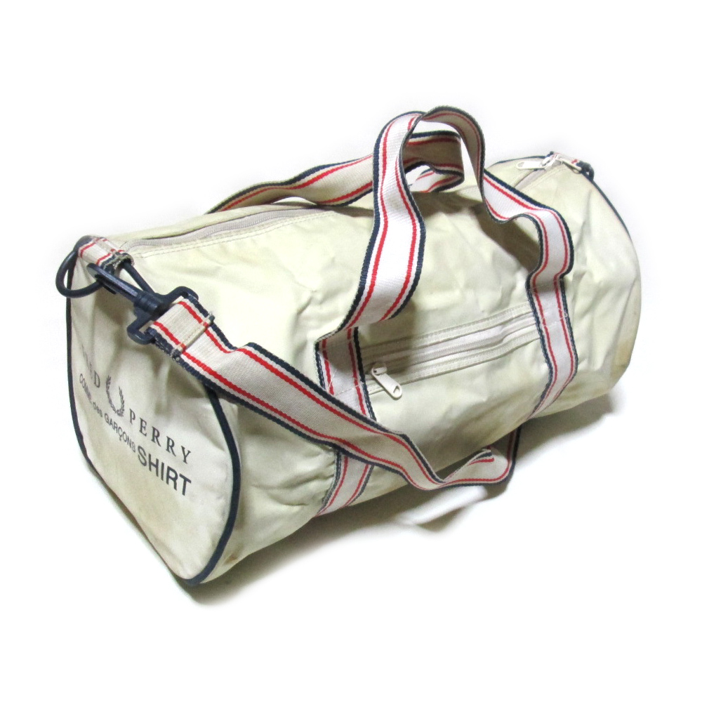COMME des GARCONS SHIRT×FRED PERRY コムデギャルソン シャツ×フレッドペリー 限定 ボストンバッグ (スポーツ コラボレーション テニス イギリス ) 119553 【中古】
