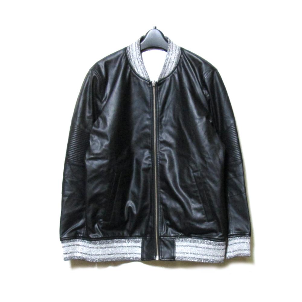 美品 NOID. BLACK ノーアイディー ブラック 「2」 リバーシブルフルジップジャケット (黒 ブラック 白 ホワイト ブルゾン ユニセックス) 119668 【中古】