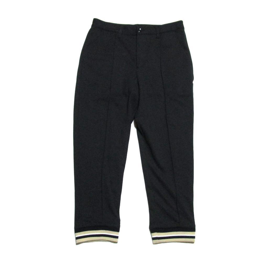 FRAPBOIS フラボア 「1」 裾リブパンツ (黒 ブラック ジャージ ユニセックス) 120166 【中古】