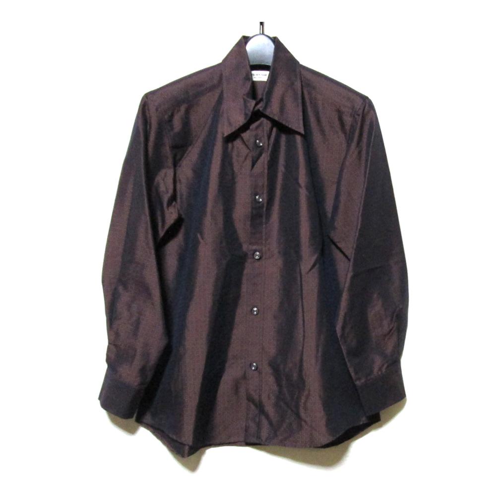 美品 Vintage ATELIER SAB for men ヴィンテージ アトリエサブフォーメン 「2」 オリエンタルパターンシャツ (ボルドー 着物 ブラウス アヴァンギャルド) 120434 【中古】
