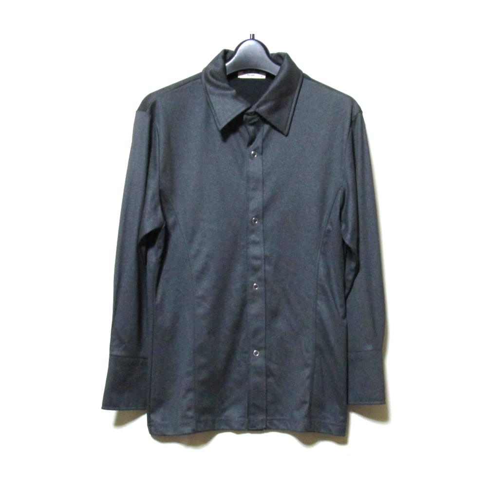 美品 Vintage ATELIER SAB for men ヴィンテージ アトリエサブフォーメン 「S」 ストレッチデザインシャツ (グレーブラウス アヴァンギャルド ) 120437 【中古】