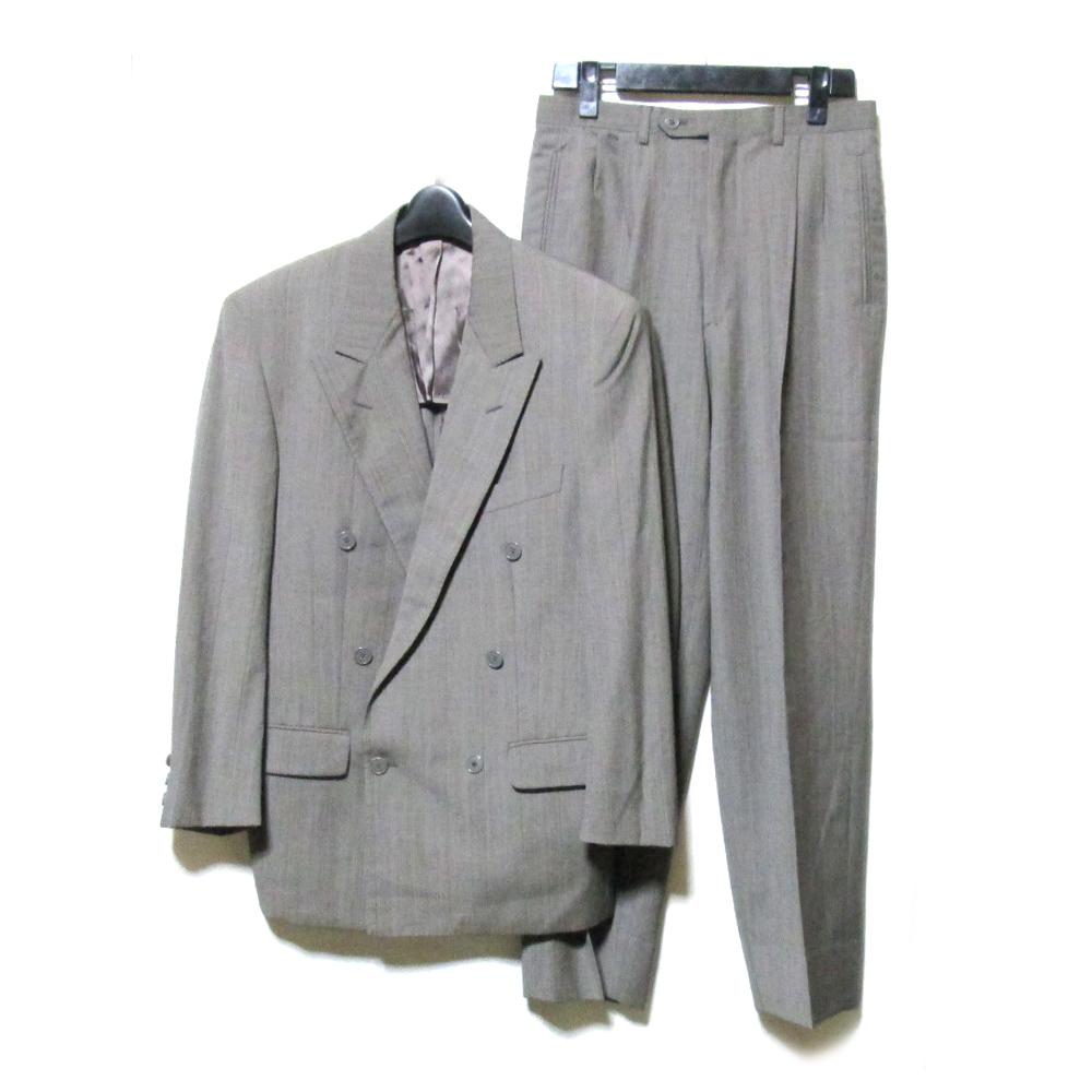 美品 Vintage ATELIER SAB for men ヴィンテージ アトリエサブフォーメン 「S」 ダブルブレスセットアップスーツ (グレー 定番 ボックスシルエット アヴァンギャルド) 120449 【中古】