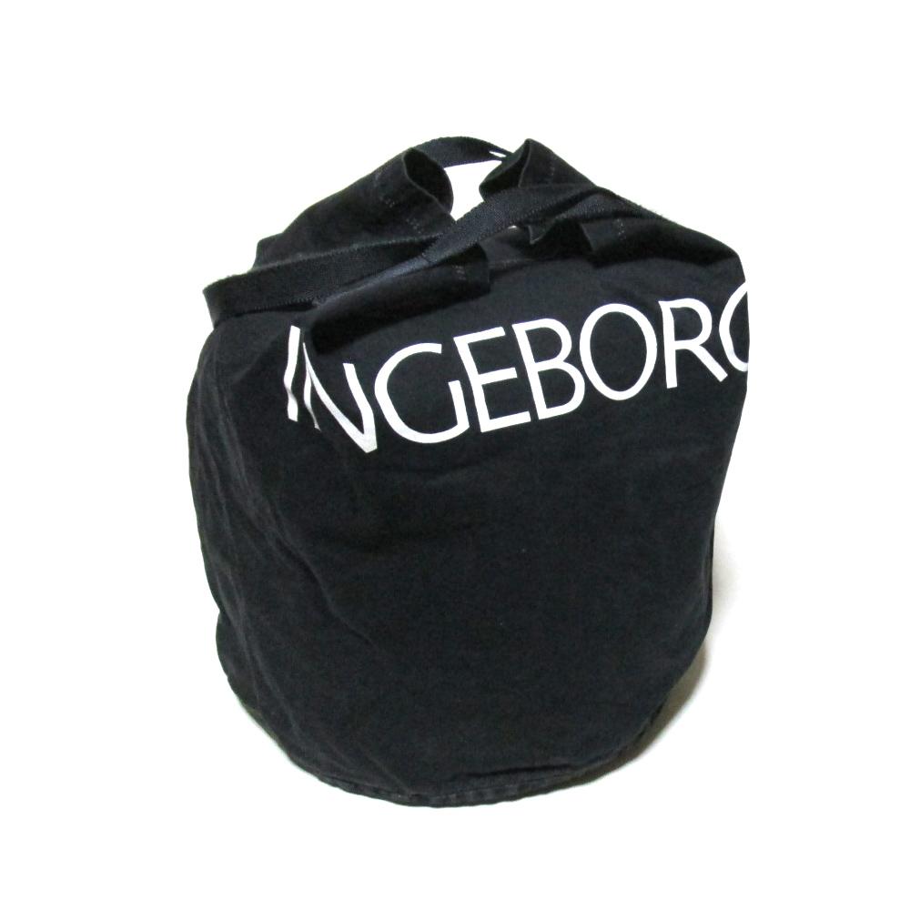 Vintage INGEBORG ヴィンテージ インゲボルグ キャンバスロゴトートバッグ (黒 鞄 ブラック PINK HOUSE ピンクハウス 金子功 KANEKOISAO カネコイサオ) 120709 【中古】