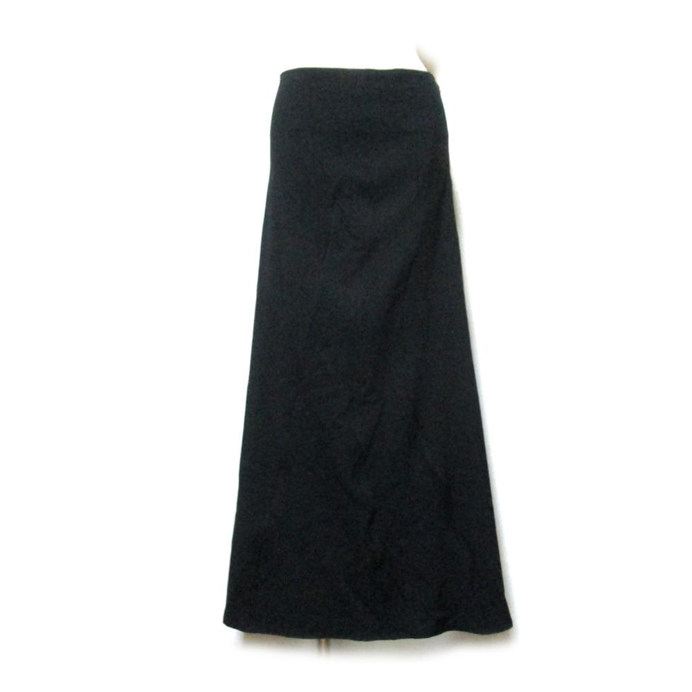 WXYZ Y's ワイズ アシンメトリードレープロングスカート (黒 ブラック YOHJI YAMAMOTO ヨウジヤマモト Y's ワイズ 山本耀司) 120787 【中古】