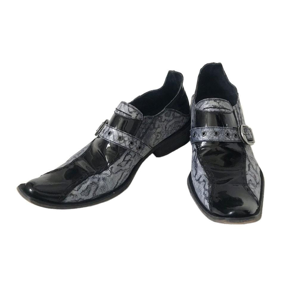 美品 BOREDOM ボアダム モンクストラップパイソンレザーシューズ (靴 皮 革 ブーツ ) 120858 【中古】