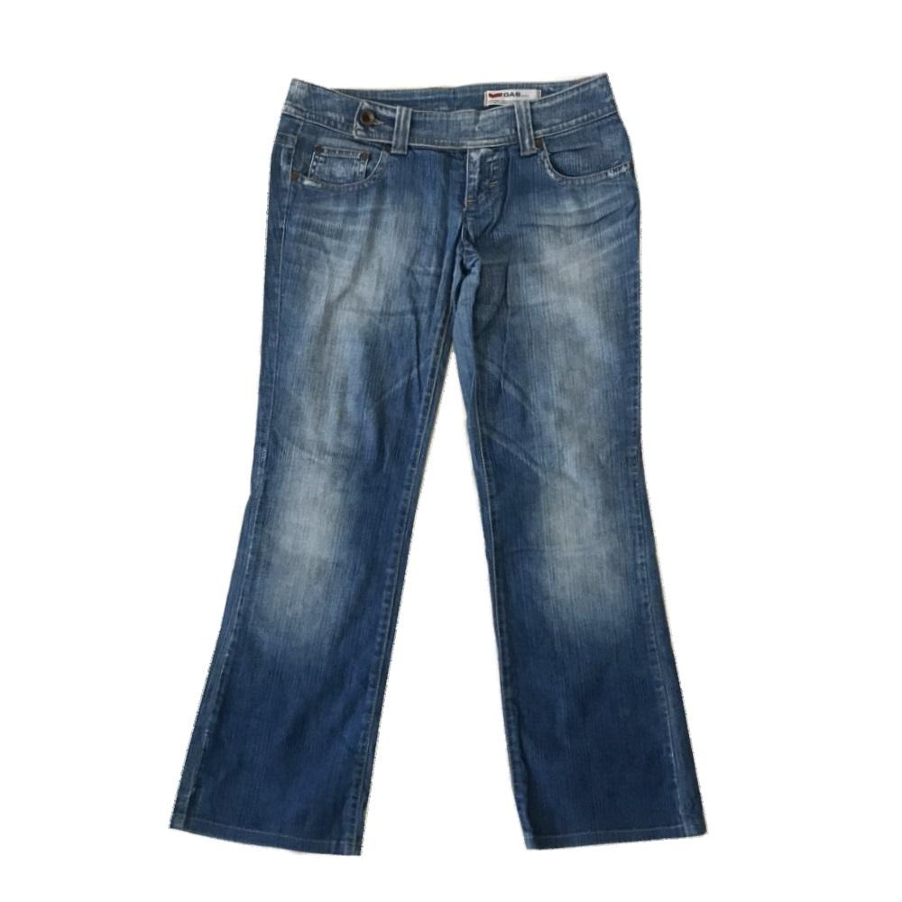 \3980以上購入で 送料無料 GAS jeans 上品 ガス ジーンズ ブルー 120869 高品質新品 ヴィンテージデニムパンツ インディゴ 中古