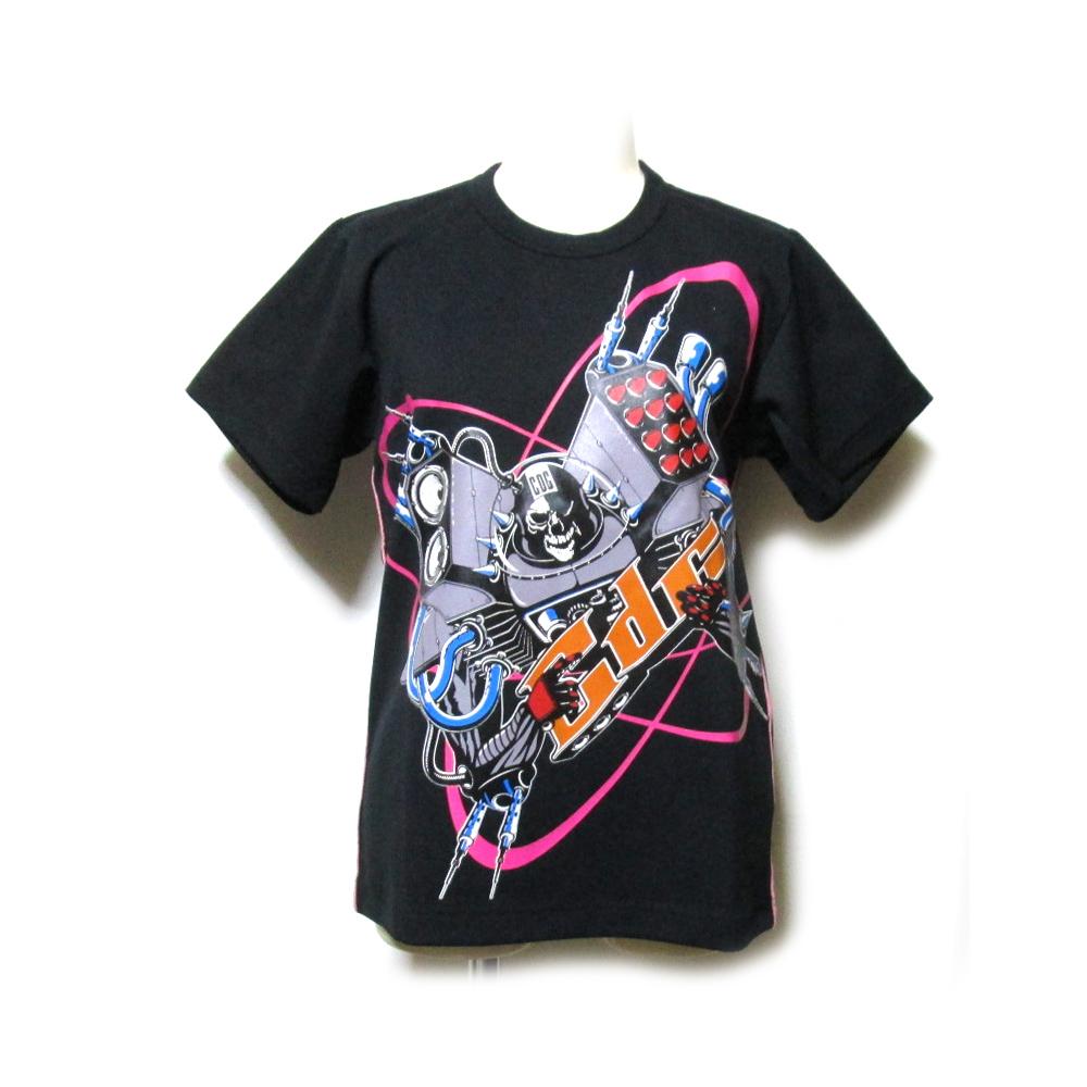 美品 COMME des GARCONS コムデギャルソン 2004 メカニカルデザインTシャツ (黒 半袖 アーティスト) 120949 【中古】